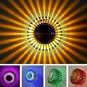 YJYdada Colorful RGB Sun Flower Wall Lamp Surface Install LED Light Luminaire Lighting