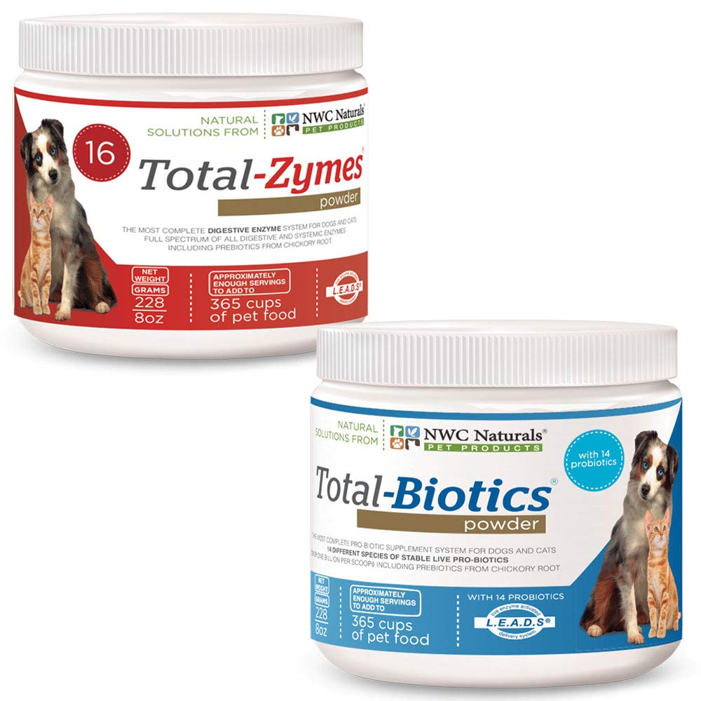 NWC Naturals Total-Digestion Mini-twin Pack Total-Zymes, Total-Biotics Each Jar Treats 100 Cups of Food by NWC Naturals