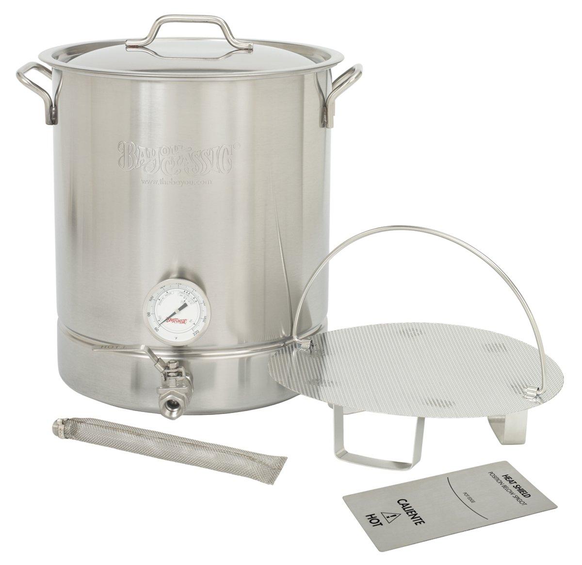 Bayou Classic 800-408 - 8-Gal Premium Brew Kettle, 6-Pc Set by Bayou Classic