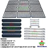 cast iron tube - Direct store Parts Kit DG184 Replacement Charbroil Commercial 463268806 Gas Grill Repair Kit (SS Burner + SS carry-over tubes + Porcelain Steel Heat Plate + Porcelain Cast Iron Cooking Grid)