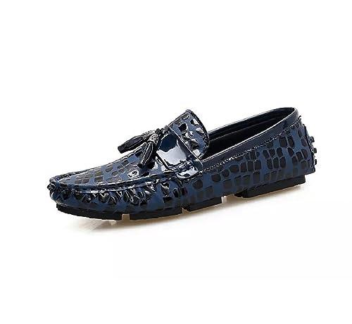 Mocasines Hombre Moda Casual Conducción Slip on Cuero Senderismo Zapatos Hilo de Coser: Amazon.es: Zapatos y complementos