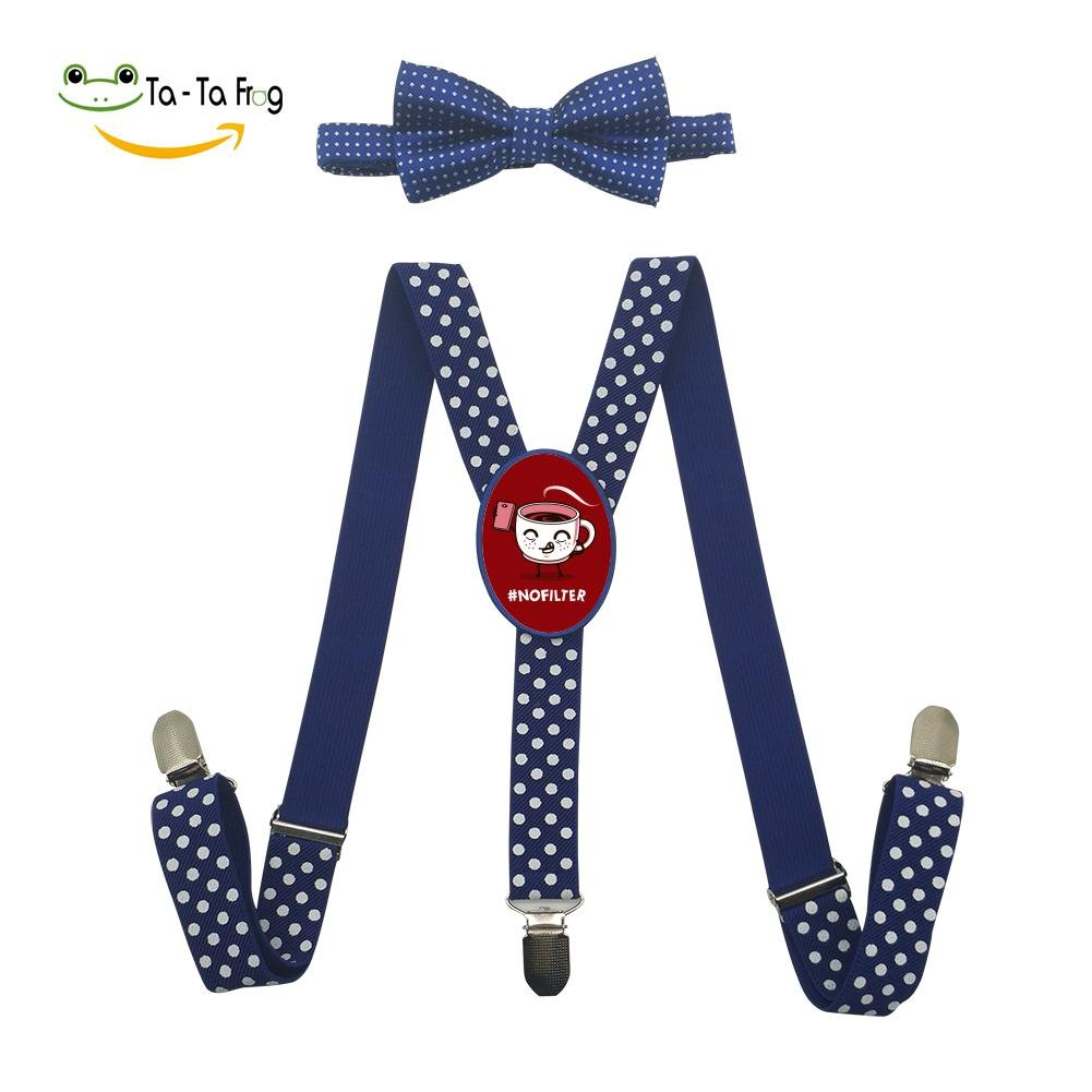 Grrry Kids No Filter Coffee Adjustable Y-Back Suspender+Bow Tie