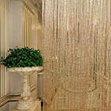 Bathroom Shower Curtains Window Curtains Tassel Glitter Curtains String Champagne for Living Room Window Door Shower Curtain Divider Panels Screen Drape Decoration
