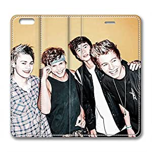 iCustomonline 5 SOS Leather Standup Cover for iPhone 6 Plus( 5.5 inch)