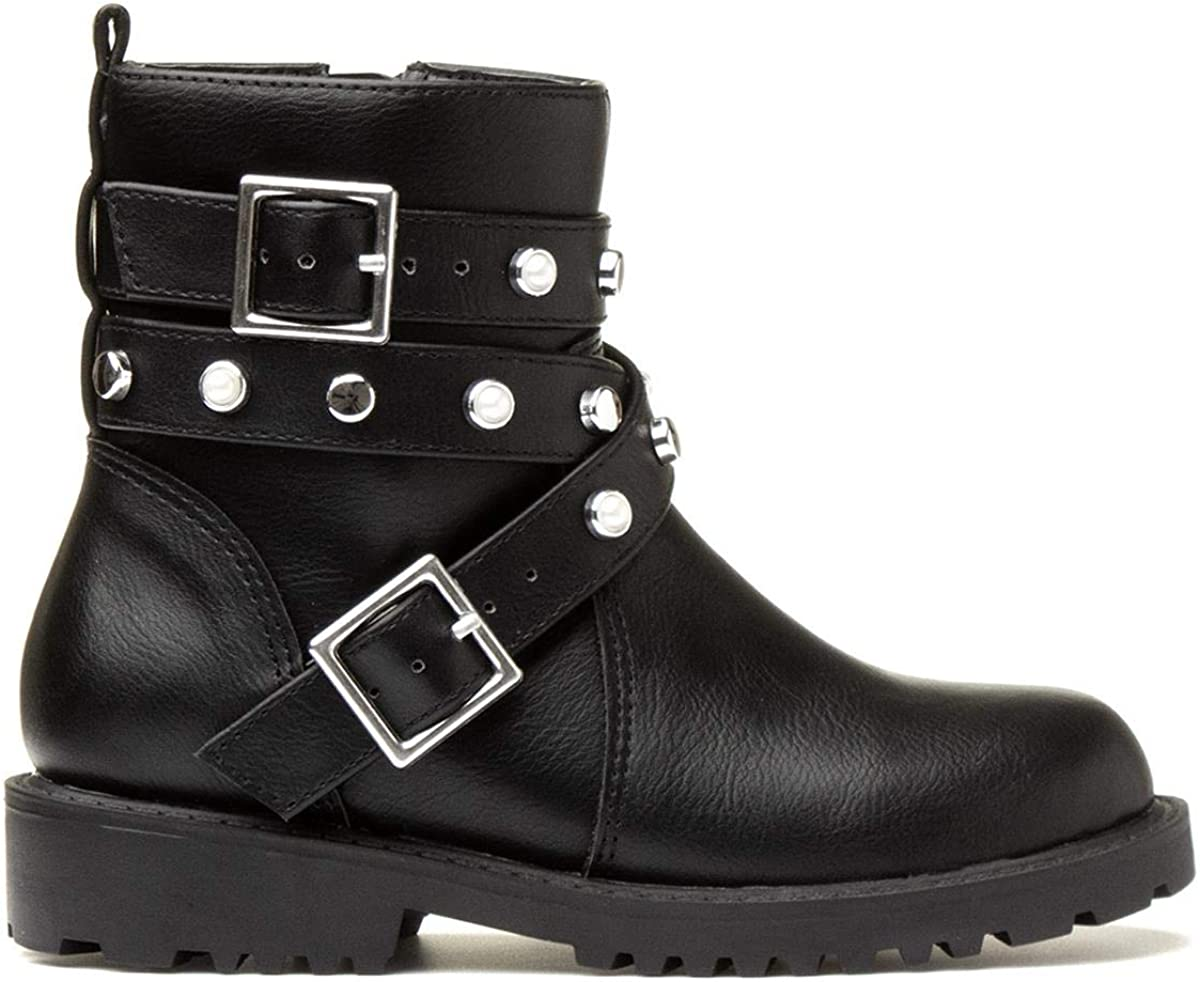 Lilley Girls Black Ankle Boot with Buckle