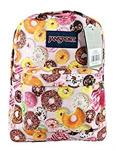 JanSport Superbreak Colorful Print School Backpack B1023: Multi Donuts