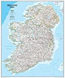 Ireland Classic, tubed Wall Maps Countries & Regions (National Geographic Reference Map)