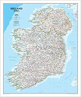 Ireland Classic Tubed National Geographic Reference Map - Ireland on us map
