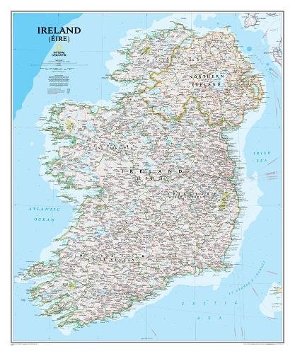 National Geographic: Ireland Classic Wall Map (30 x 36 inches) (National Geographic Reference Map)...