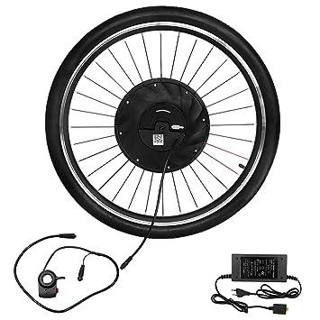 Lixada 700x23c Rueda Delantera Eléctrica Bicicleta Disco/v Freno Hub Motor Kit 36v 240w Potente