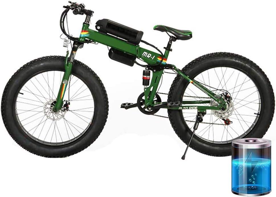 D&XQX 36V 250W de la Bici de montaña eléctrica, de 26 Pulgadas Fat Tire E-Bici 7 velocidades Suspensión Crucero de la Playa Bicicleta de montaña Completa Frenos de Disco hidráulicos