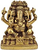 Panch-Mukhi Ganesha - Brass Sculpture