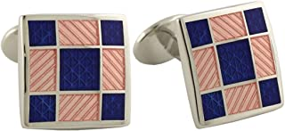 product image for Donahue Sterling Silver Squares Cufflinks