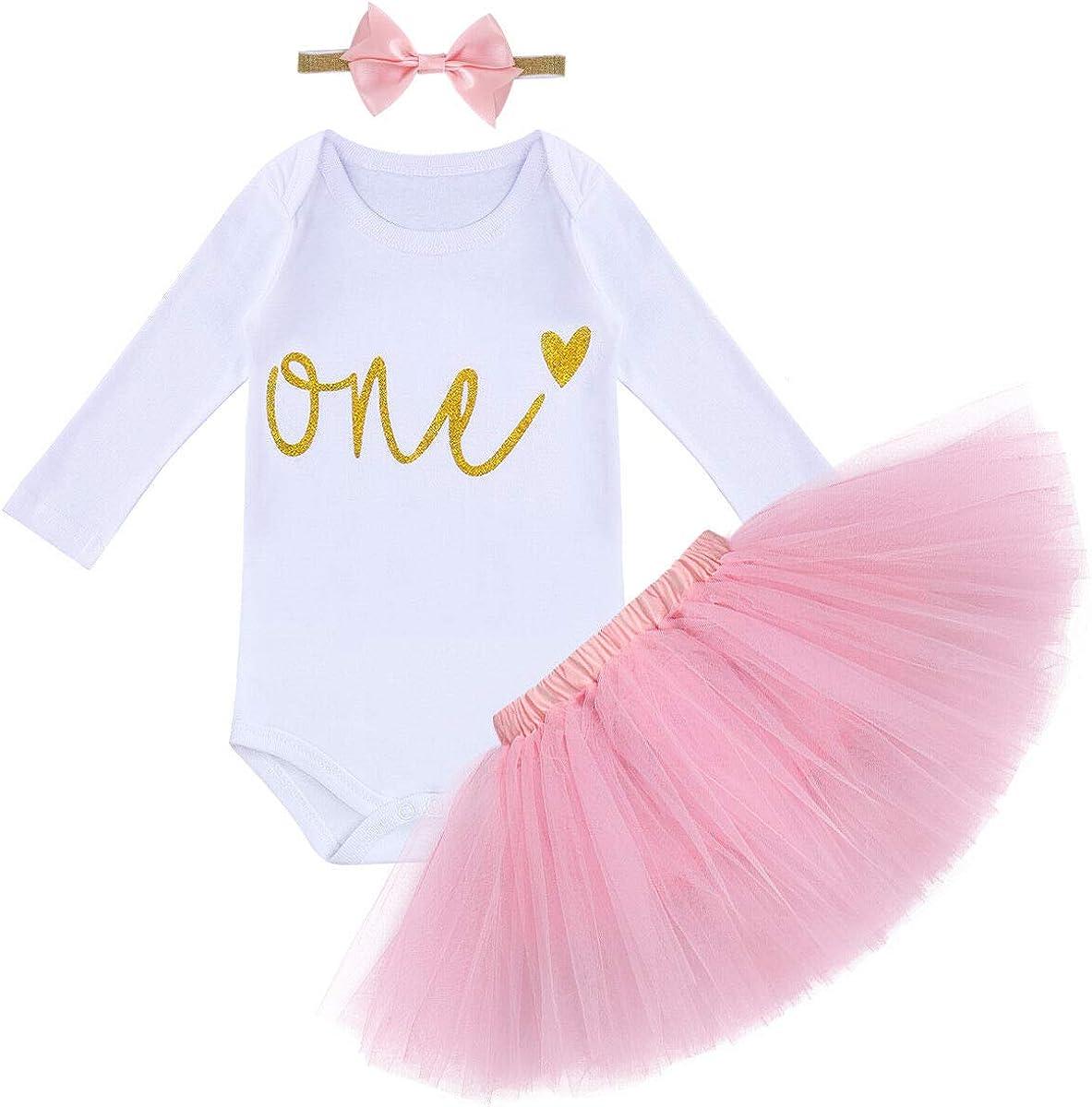 Fabulous Baby Girls 1St First Birthday Outfit Cake Smash Set Pink Tutu Personalised Birthday Cards Bromeletsinfo