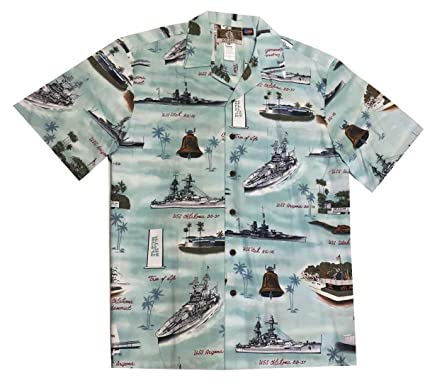 dc86f4ac Amazon.com: Kalaheo Men's Pearl Harbor US Carrier Aloha Shirt: Clothing