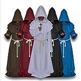 AMOSFUN Halloween Medieval Monks Costume Classic