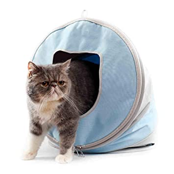 YIZHEN Cama Cerrada A Prueba De Viento para Gatos, Limpieza Plegable Casa De Gato Simple, Four Seasons Universal Variable Multifuncional Pet Nest, ...