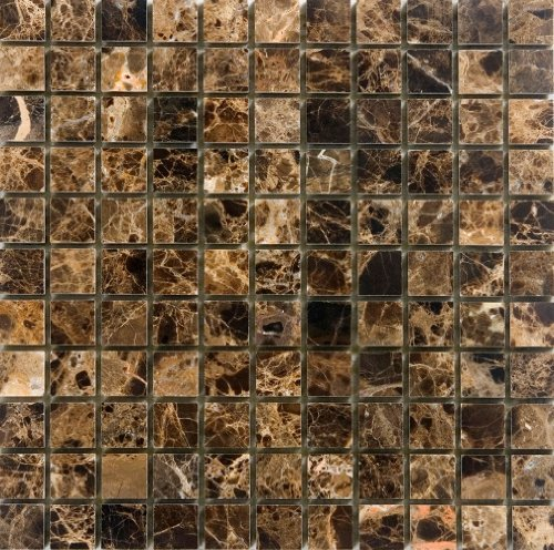 Epoch Tile ED1X1 1x1 Emperador Dark Polished Marble by Epoch Tile