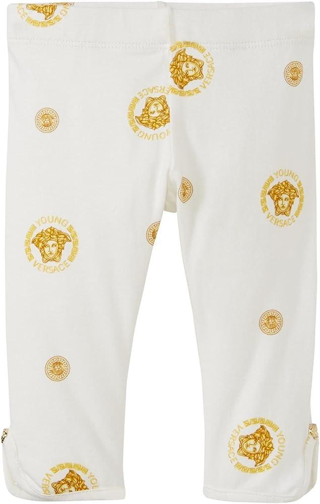 Amazon Com Versace Kids Baby Medusa De Las Ninas Leggings De Impresion Bebe 24 Meses Dorado Clothing