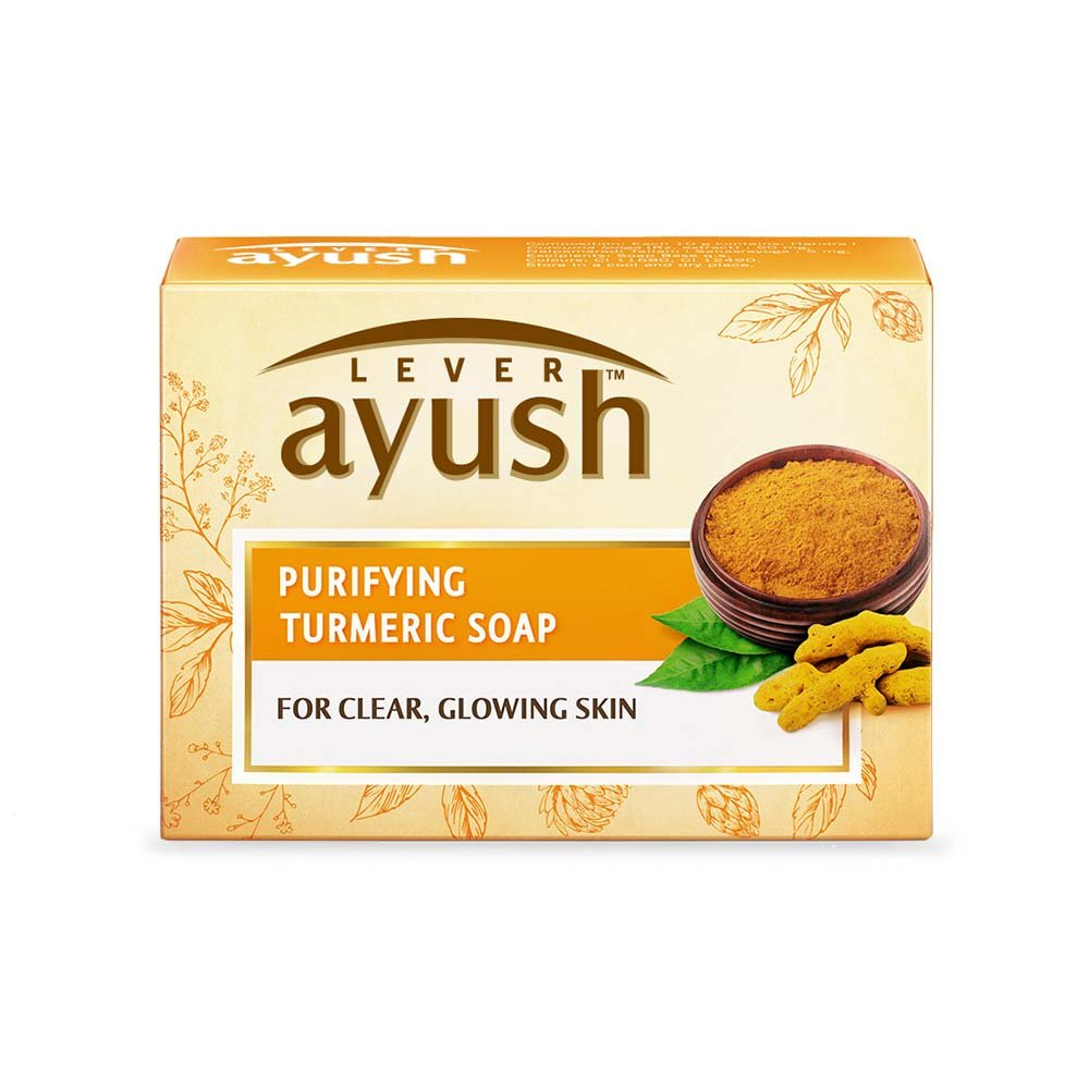 Lever Ayush Purifying Turmeric Soap-0
