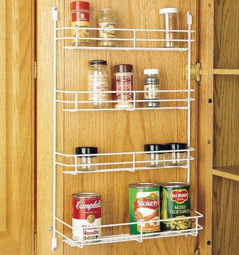 """Rev-A-Shelf Door Mount Spice Rack - 7.87"""" Width - White Wire 565"""