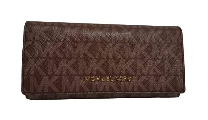 53b912fca2ec Michael Kors Jet Set Travel PVC Carryall Wallet (Merlot) at Amazon Women s  Clothing store