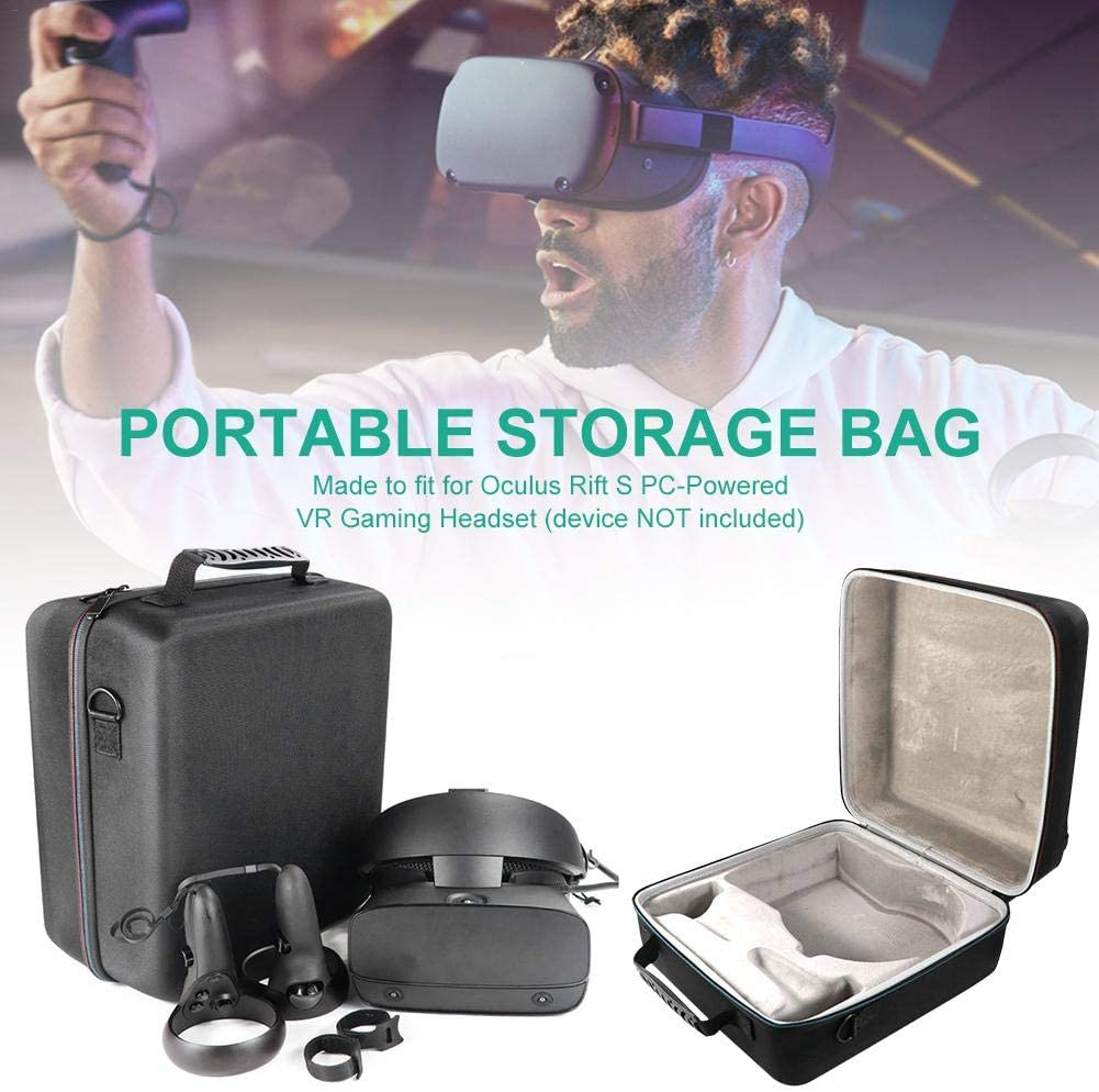 Pleasay vr Headset Carrying case Travel Storage Protective Bag for Oculus Rift S PC-Powered Virtual Reality Headset Gamepad Game Controller Kit Waterproof Astonishing with Foam Impact Protection