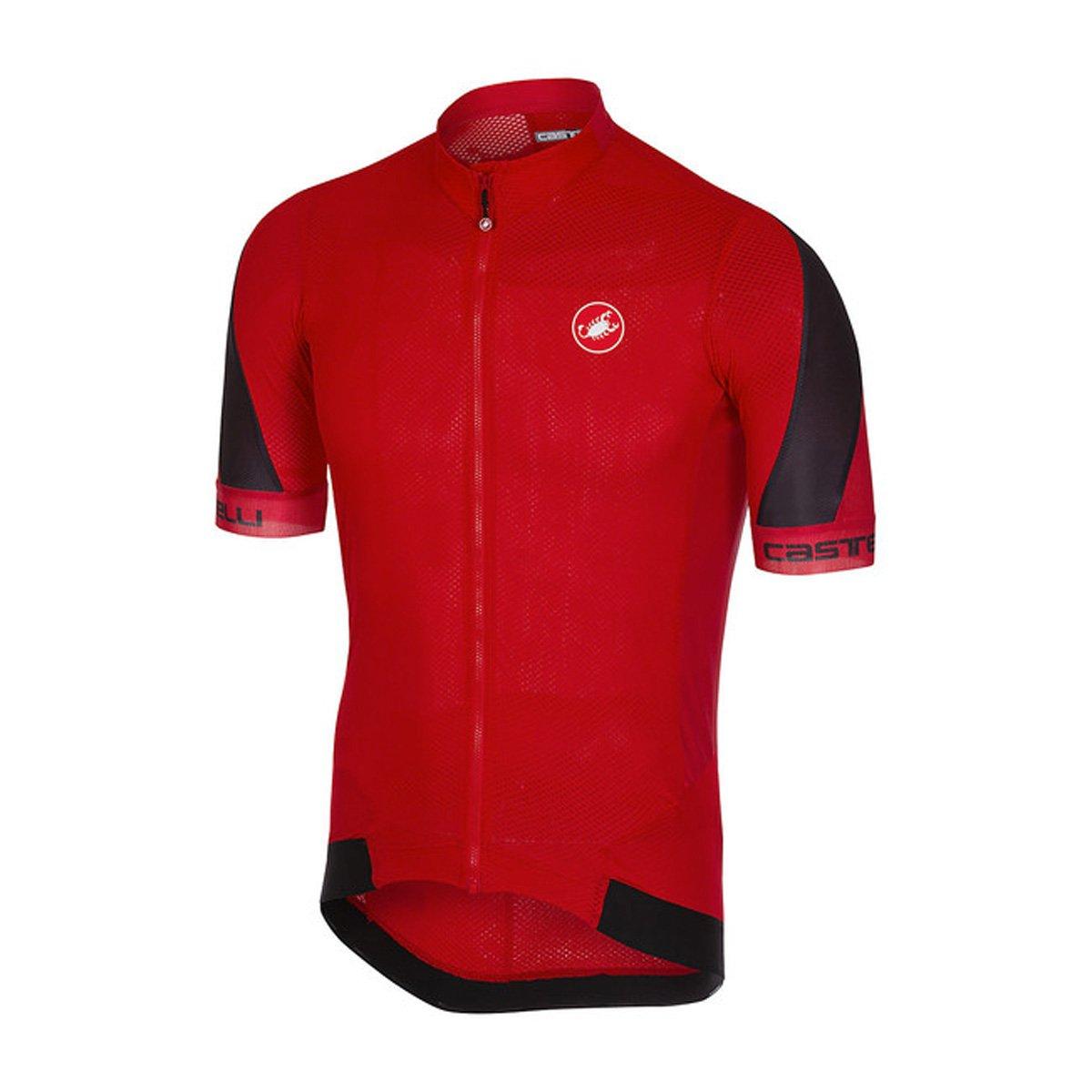 CastelliメンズVolata 2 Bike jersey fz B079Q2QKZN Medium|レッド/ブラック レッド/ブラック Medium
