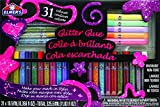 Office Products : Elmer's 3D Washable Glitter Glue Pens, 31 Rainbow and Glitter Colors (E198)