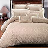 Best Royal Hotel duvet cover - 7PC- King/Cal-King Sara Jacquard Duvet Cover Set By Review