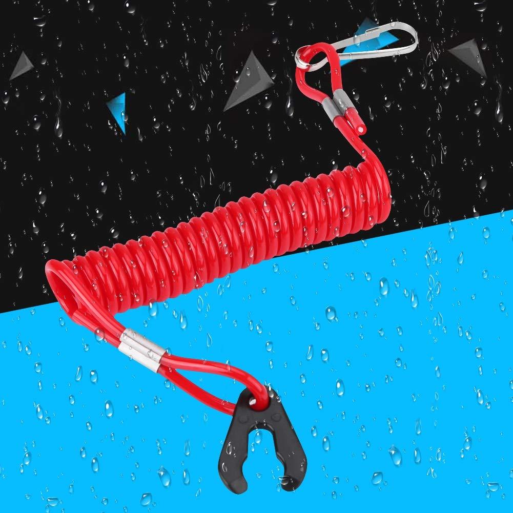 Kill Stop Switch Motore Fuoribordo Accensione di Emergenza Key Lanyard Rope Clip per Tutte le Serie Motoboot