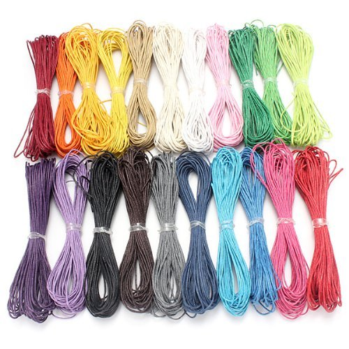 Rustiquegift 10Pcs x 1.5mm 10 Meters Waxed Cotton Cords Thread String for Jewelry /& Craft Making DIY Random Colors