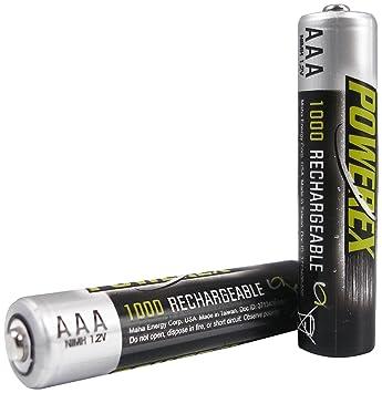 Amazon.com: Powerex AAA Heavy-Duty 1000 mAh baterías ...