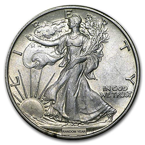 - 1930-1945 U.S. Walking Liberty Silver Half Dollar Coin Half Dollar About Uncirculated Condition