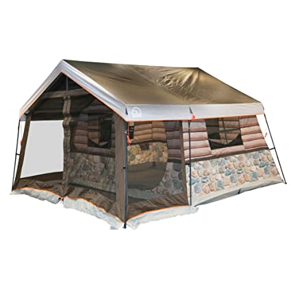 Igloo Log Cabin Lodge Tent and Screen Porch  sc 1 st  Amazon.com & Amazon.com : Igloo Log Cabin Lodge Tent and Screen Porch : Sports ...