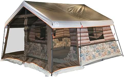 Igloo Lodge Log Tent, 13x12, Timber/Stone