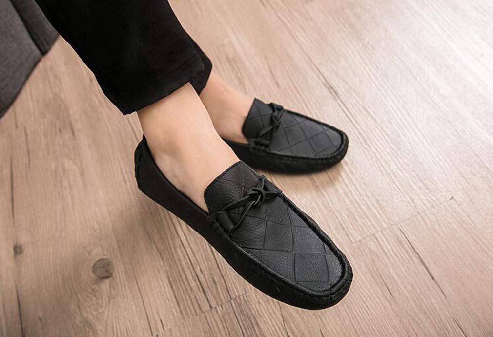 Hy Leather Herrenschuhe leichte Sohlen Loafers Slip-On-Schuhe Casual Leather Hy Walking Schuhe Comfort Slip Resistant Business Work Work schuhe,schwarz,41 1053d0
