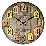 Cheap YeYo 12 inch MDF Wooden Vintage Wall Clock Art Decorative for Home Living Room Home Decoration