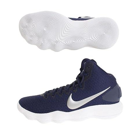buy online f670b 95316 Nike Men s Hyperdunk 2017 TB Basketball Shoe Midnight Navy Metallic Silver  White Size 10