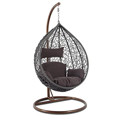 Outstanding Amazon Com Kresdy All Weather Resin Wicker Swing Tear Drop Home Interior And Landscaping Ologienasavecom