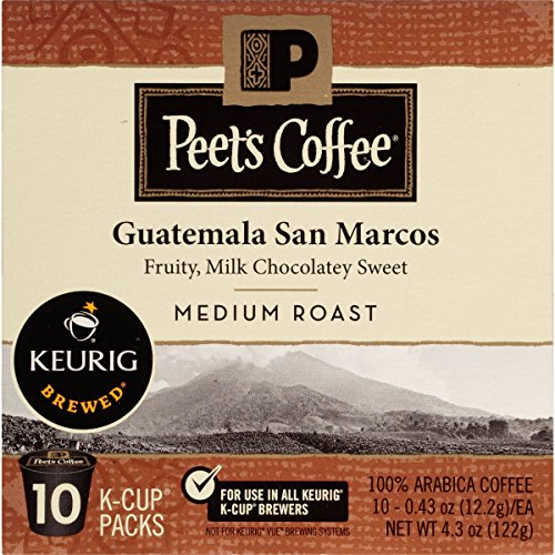 Peet's Coffee Guatemala San Marcos K-Cup Packs, Medium Roast, 10 Ct (Guatemala K Cup Coffee)