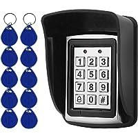 OBO HANDS 10 RFID-Porte-cl¨¦s + Housse de Pluie ?tanche + Clavier en m¨¦tal RFID Supporte 1000 Utilisateurs Interface Wiegand-26 (Entr¨¦e/Sortie)