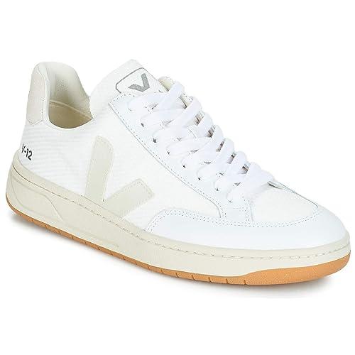 VEJA V-12 Zapatillas Moda Hombres Blanco Zapatillas Bajas: Amazon.es: Zapatos y complementos