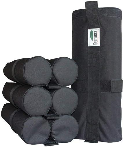 Gazebo Tent Sandbag Weights Set 4 Piece 14x42 cm Black