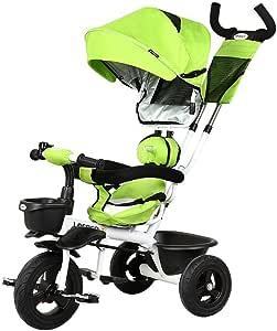 YJWOZ Niños Triciclo, Bicicleta Empuje de Mano bebé Cochecito de ...