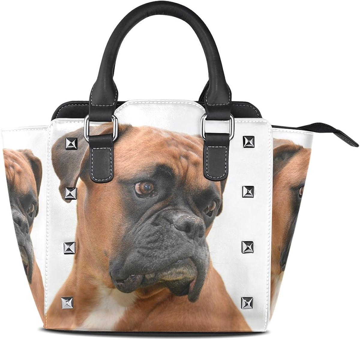 imobaby Dog Pet PU Leather Top-Handle Handbags Single-Shoulder Tote Crossbody Bag Messenger Bags For Women