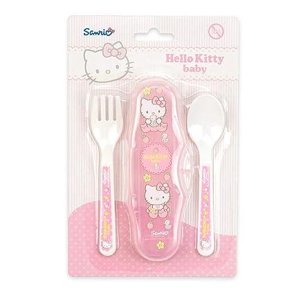 Hello Kitty – Cubertería de viaje/viajes (Tenedor y cuchara)