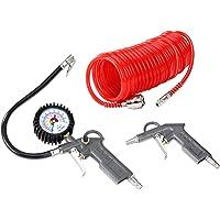 Lucht Compressor Accessoires Gereedschap Kit Blaas Pijp Druk Maat Spiraal Slang Buis 115 PSI Band Pomp