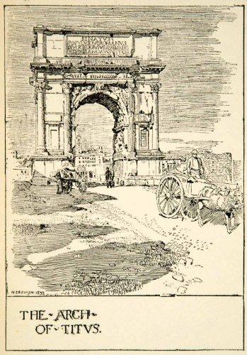 Victory Arch (1907 Print Arch Titus Ancient Rome Nelly Erichsen Roman Forum Victories Triumph - Relief Line-block Print)