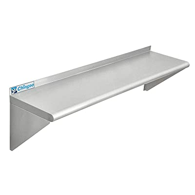 Buy Chingoo Stainless Steel Shelf 12 X 48 Inches Commercial Nsf Wall Mount Floating Shelving For Restaurant Kitchen Home And Hotel Online In Turkey B08p4gwkjm
